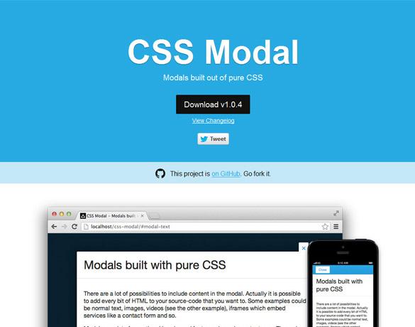 モーダルウィンドウをCSSだけで設置する方法「CSS Modal」軽量かつJS不要!
