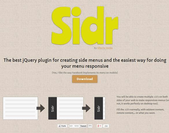 Facebookのように横から展開するメニューを実装できるjQueryプラグイン「sidr」の使い方