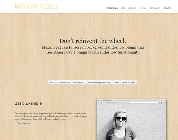背景画像をスライドショー付きでフルスクリーン表示にする方法「jQuery MaxImage」