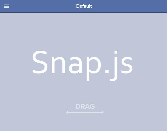 スマホに最適なスワイプメニューを実装できる「Snap.js」の使い方